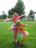 Clowns in Belarus Royalty Free Stock Photos