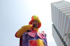 Clowns bij festival Stock Foto's