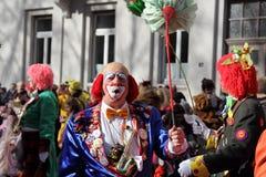 Clowns at carnival street parade , Germany. Royalty Free Stock Photography