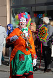 Clowns at carnival street parade , Germany. Royalty Free Stock Photos