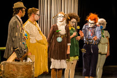 Clowns d'acteurs Photos libres de droits