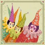 Clowns de carnaval Photographie stock