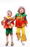 Clowns de pièce d'enfants Images stock