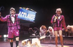 Clowns with Dogs, Ringling Brothers & Barnum & Bailey Circus royalty free stock photography