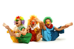 Clowns drôles Photographie stock