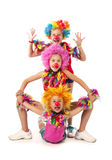 Clowns drôles Photos libres de droits
