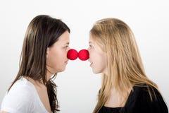 Clowns faccia a faccia Fotografia Stock Libera da Diritti