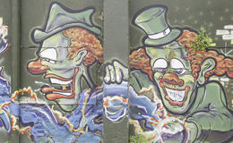 Clowns graffiti Royalty Free Stock Photography