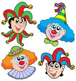 Clowns head collection 2 Royalty Free Stock Photo