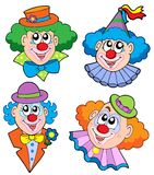 Clowns head collection Royalty Free Stock Photo