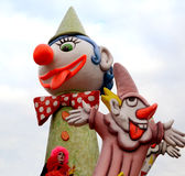 Clowns italiens de carnaval Photo libre de droits