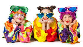 Clowns are making fun Stock Photo