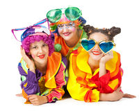 Clowns are making fun Royalty Free Stock Photography