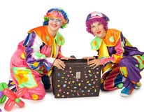 Clowns are making fun Stock Image