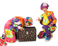 Clowns are making fun Stock Photos