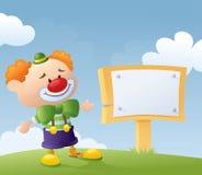 Clowns meddelande royaltyfri bild