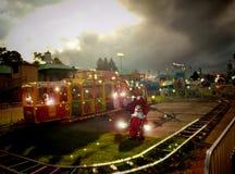 Clowns op trein Royalty-vrije Stock Afbeeldingen