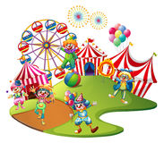 Clowns performing in the circus Stock Photo