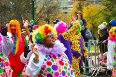Clowns in Philly Parade. Clowns in the Philly Thanksgiving Parade Royalty Free Stock Image