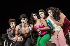 Clowns pleurants de Cirque photographie stock libre de droits