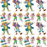 Clowns sans couture Images libres de droits