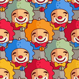 Clowns - seamless pattern Stock Image
