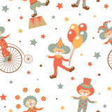 Clowns seamless pattern Stock Photos