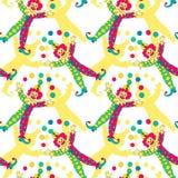 Clowns seamless pattern background Royalty Free Stock Photo