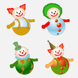 Clowns set Royalty Free Stock Images