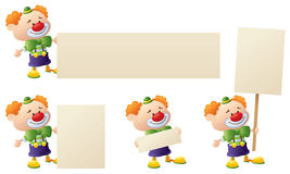 Clowns Signs Royalty Free Stock Images