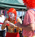 Clowns Smiling Royalty Free Stock Images