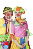 Clowns in the soap bubbles Royalty Free Stock Photos