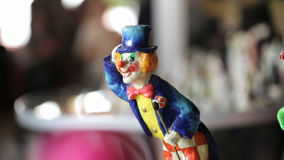 Clowns statuettes. Montage with many different shots. Different shots of  the clown statuettes in Akvamarine circus. Many  figurines. Shot on Canon 5D Mark II stock video footage