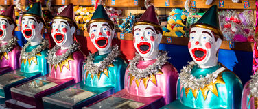 Clowns and toys on display in the shop Royalty Free Stock Image