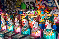 Clowns and toys on display in the shop Royalty Free Stock Photography
