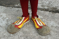Clownschuhe Stockfotos