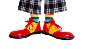Clownskor arkivfoton