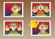 clownstämplar Arkivbild