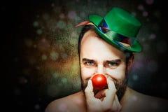Clownstående Arkivfoton