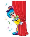 Clownthematicsbild 1 Arkivbilder