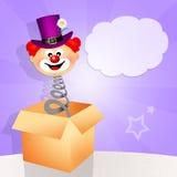 Clownöverraskning Arkivfoton