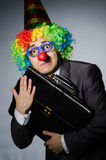 Clownzakenman Royalty-vrije Stock Afbeelding