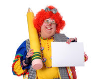Clowwn Holding Paper Stock Image