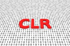 CLR. In the form of binary code, 3D illustration Stock Photography