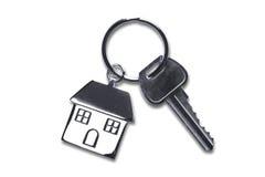 Clés de nouvelle maison avec le chemin de découpage Photos stock