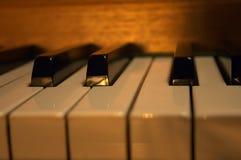 Clés de piano Photo libre de droits