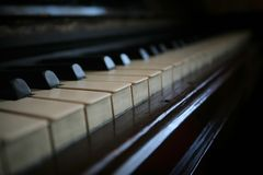 Clés de piano Photographie stock