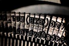 Clés de Typewritter, vue en gros plan Images stock