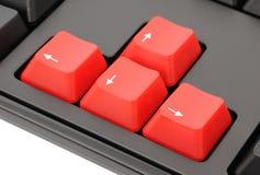 Clés rouges Photo stock