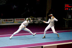 Clôture de la coupe du monde Shanaeva 2010 contre Eriggo Arianna Image libre de droits